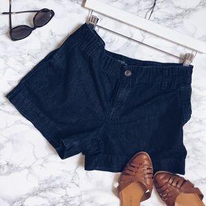 Ann Taylor LOFT   blue denim shorts w/ 4 pockets